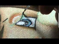"""Como pintar os olhinhos da """"Boneca Cupcake"""" - YouTube"""
