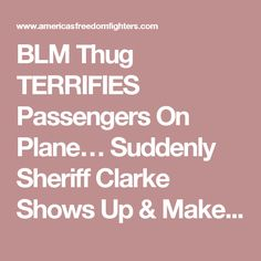 BLM Thug TERRIFIES Passengers On Plane… Suddenly Sheriff Clarke Shows Up & Makes EPIC Move