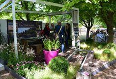 Le stand Accent du sud et son jardin éphémère - Conception : Christophe Naudier, Architecte Paysagiste