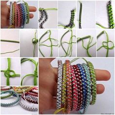 How to DIY Rainbow Ball Chain Bracelet | www.FabArtDIY.com LIKE Us on Facebook ==> https://www.facebook.com/FabArtDIY
