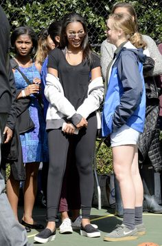 Pin for Later: 36 Times Sasha Was the Most Stylish Member of the Obama Family When She Nailed the Comfy-Casual Look and Made Leggings Look Chic