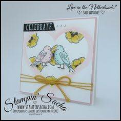 Stampin' Sacha | Stampin' Up! | Stampin' Blends | Color Me Happy | Masking Technique | Celebrate | Anniversary