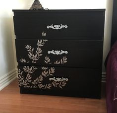 Crackled+Paint+dresser+makeover+-+before+-+Little+Free+Monkeys