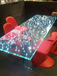 cool 73 Unique, Luxury and Elegant Transparent Glass Table Furniture Ideas https://homedecort.com/2017/04/unique-luxury-elegant-transparent-glass-table-furniture-ideas/
