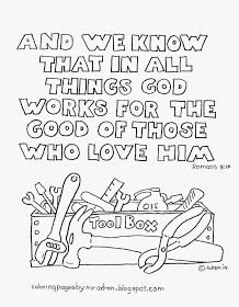 In Everything God Works For Good Free Coloring Page Bible Verse