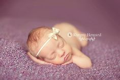 Shabby Chic Peach Tones Floral Bow Baby Headband, Newborn Photography Prop
