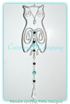 Sun Catchers, Owl Sun Catcher, Wire Suncatcher, Bird Sun Catcher
