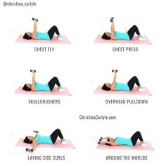 A quick and easy & lazy girl & workout that& perfect for busy women that want tight toned arms. christinacarlyle& Source by GetFitChristina The post Lazy Girl Arm Workout appeared first on Ana Jeffrey Workouts. Fitness Workouts, Band Workout, Gym Workout Tips, Fitness Workout For Women, Fitness Motivation, Easy Fitness, Workout Exercises, Woman Fitness, Health Fitness