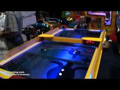 Shark Waterproof Outdoor / Indoor Commercial Air Hockey Table - BMIGaming.com - PunchLine Games