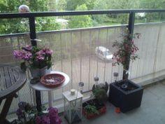 En nu een balkonscherm