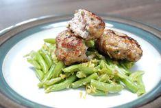 Fotorecept: Rukolové mäsové fašírky so zelenou fazuľkou a zázvorom