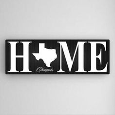 Home State Personalized Wall Art - Canvas Wall Art - Gallery-wrapped Canvas - Personalized Wall Art - Home State Canvas | HomeDecorators.com