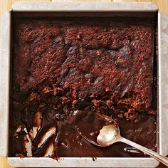 Brownie Pudding Cake: Some of us love cake batter more than cake itself. With a dessert that's part fluffy cake and part gooey pudding, there's no need to compromise. Spoon it into bowls and serve with ice cream.