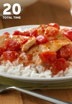 Ready in 20 minutes, this easy Italian Chicken and Rice recipe is sure to become a family favorite weeknight dinner.