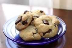 The BEST Gluten Free, Vegan No Grain Chocolate Chip Cookies