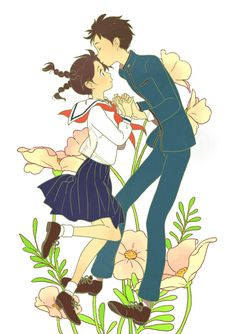 From Up on Poppy Hill, studio ghibli Hayao Miyazaki, Film Manga, Manga Art, Anime Art, Studio Ghibli Art, Studio Ghibli Movies, Totoro, Personajes Studio Ghibli, Eyes Closed