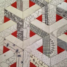 Patchwork Quilt Patterns, Modern Quilt Patterns, Hexagon Quilting, 3d Quilts, Quilting Projects, Quilting Designs, Paper Peicing Patterns, Optical Illusion Quilts, Optical Illusions