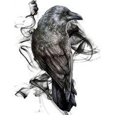 Impression photo 'Corbeau gothique oiseau corbeau réalisme dessin esquisse tatouage' par RISHAMA – Expolore the best and the special ideas about Apparel design Bild Tattoos, Body Art Tattoos, Sleeve Tattoos, Tattoo Art, Foot Tattoos, Crows Drawing, Bird Drawings, Gothic Drawings, Crow Art