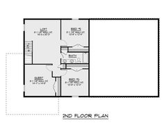Farmhouse Plan: 2,160 Square Feet, 4 Bedrooms, 2.5 Bathrooms - 5032-00010 Metal Barn House Plans, Metal Building House Plans, Steel Building Homes, Morton Building, House Plans 2 Story, Garage House Plans, Small House Plans, Rv Garage, Loft Plan