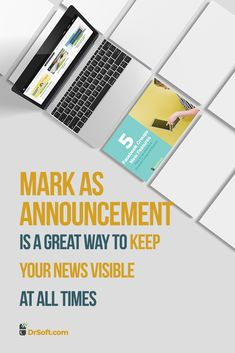 Mark as Announcement is a great way to keep your news visibile for your group members at all times. It replaced the Pin to Post feature, thus now you can have more posts at the top of your group's feed. Facebook Marketing Strategy, Marketing Ideas, Social Media Marketing, About Facebook, How To Use Facebook, Improve Yourself, Success, Group, News