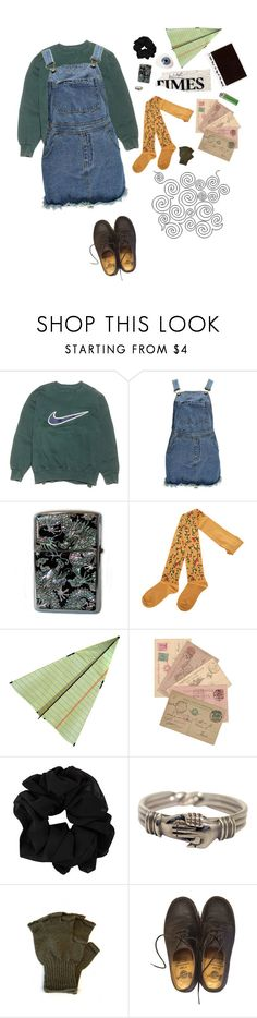 """blackbear"" by uxly ❤ liked on Polyvore featuring NIKE, Boohoo, Zippo, SUPER HAKKA and Dr. Martens"