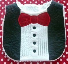 Tuxedo bib for baby boy