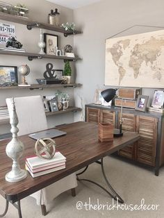 Decoration ideas for office Birthday Home Office Makeover Ideas Home Office Decor Ideas Extravagant World Market Furniture Desk Side Table Small Home Office Decorating Ideas Pictures Pinterest 221 Best Office Decor Images Office Decor Desk Ideas Office Ideas