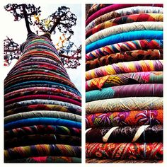 African Baobab tree made out of fabric, Southbank - London