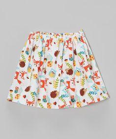 Owl little ladies will love flying from playground to party in this lively skirt. An elastic waistband means pulling it on is as swift as a bird, while light-as-a-feather cotton ensures all day comfiness. 100% cottonMachine wash; tumble dryMade in the USA
