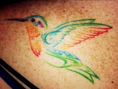 Hummingbird Tattoo!Love the colors and simple design