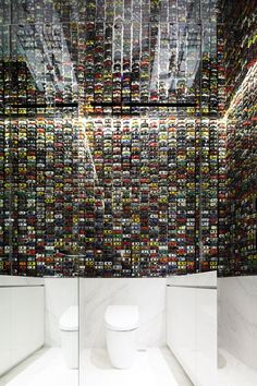 The Wall Of Cars at The First INTERSECT by Lexus Flagship Store In Tokyo, Japan | http://www.yatzer.com/intersect-lexus-tokyo / photo © Kozo Takayama.
