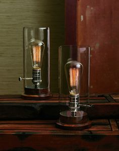 Edison Table Lamp  Here is a lamp that is simple, fun and a little bit different.   $106.00 | Greige