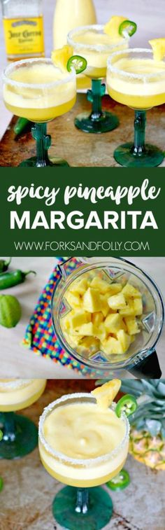 Celebrate the warm weather and Cinco de Mayo with this easy to make Spicy Pineapple Margarita recipe. Featuring fresh pineapple and a jalapeño simple syrup, this will be your favorite cocktail recipe this summer!