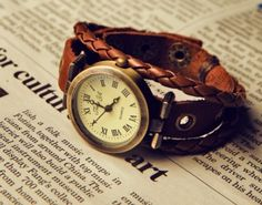 brown leather wrap watch ladies leather band wrist watch, women wrist watches best gift for Christmas birthday festival 10 off
