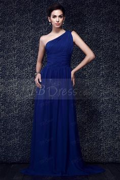 $ 63.09 One shoulder Ruched Bodice and A line Skirt New Taline's Prom Dress