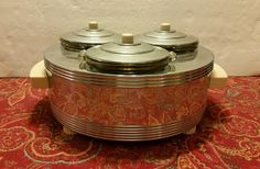 Chase Brass and Copper Co Food Warmer Works Art Deco Chrome Bakelite Nice | eBay