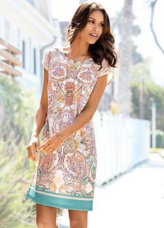 Heine , Dresses , Womens with Freemans Summer Holiday Dresses, Paisley Print Dress, Latest Dress, Cute Dresses, Dresses Online, Women Wear, Elegant, Lady, Casual
