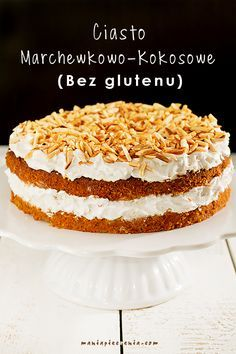 Carrot-Coconut Cake [Gluten and Lactose Free] Dessert Sans Gluten, Gluten Free Sweets, Gluten Free Cakes, Vegan Sweets, Healthy Sweets, Healthy Baking, Fruit Recipes, Sweet Recipes, Cake Recipes