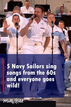 These 5 Navy sailors entertain this crowd with their songs that are so good, you might think you're hearing Frankie Vallie. These 5 Navy sailors entertain this crowd with their songs that are so good, you might think you're hearing Frankie Vallie. Songs To Sing, Music Songs, Music Videos, Us Navy Band, 50s Music, Music Mood, Navy Sailor, Jersey Boys, Country Music Singers