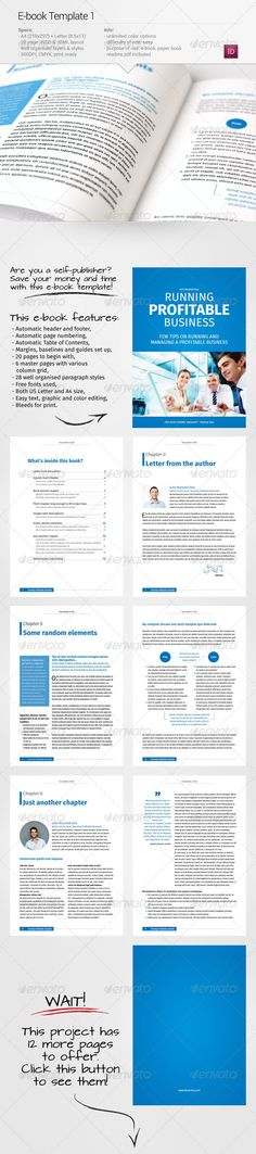 E-book Template #design Download: http://graphicriver.net/item/ebook-template-1/6746653?ref=ksioks