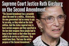 The great RBG! I still like my guns but RBG has a point, y'all!