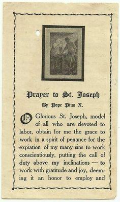 Prayer to St. Joseph patron saint of family