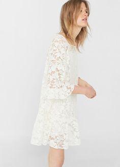 Embroidered lace dress -  Women | MANGO USA