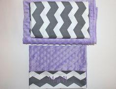 Nap Mat Cover - Grey - Chevron - Lavender - Choose Your Colors - Kindermat - Back To School - Pillowcase - Blanket - Minky