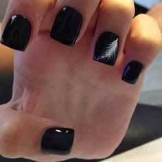 black nail art designs for 2016