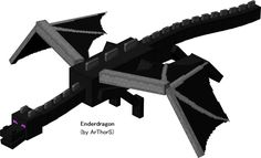 "The Ender Dragon, a fearsome flying foe who battles heroes in ""The End,"" an island floating in the void in Minecraft, released by Mojang in 2009 Minecraft Mobs, Minecraft Ender Dragon, Minecraft Characters, Minecraft Skins, Minecraft Sword, Minecraft Stuff, Cardboard Box Crafts, Paper Crafts, Minecraft Pictures"