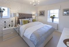 Barratt Homes - LINCOLN at Glenfield Park, Kirby Road, Glenfield, Leicester French style bedroom wit Mirrored Furniture, Bedroom Furniture, Bedroom Decor, Barratt Homes Interiors, Leicester, New Home Developments, Interior Decorating, Interior Design, Decorating Ideas