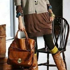 Womens Korean Hobo PU Leather Handbag Shoulder Bag Tote Shopper Bags Purse Brown