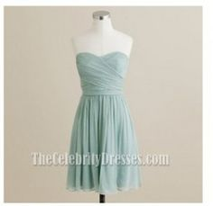 Simple Cheap Chiffon Short Party Dress Cocktail Homecoming Dresses - TheCelebrityDresses