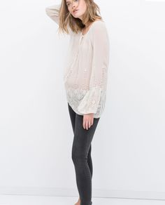 Image 1 of VOLUMINOUS SHIRT from Zara | style | Pinterest | Coupe ...